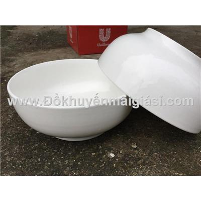 Bộ 2 tô sứ trắng Unilever kiểu bầu 6 in - Kt: (15 x 6.5) cm