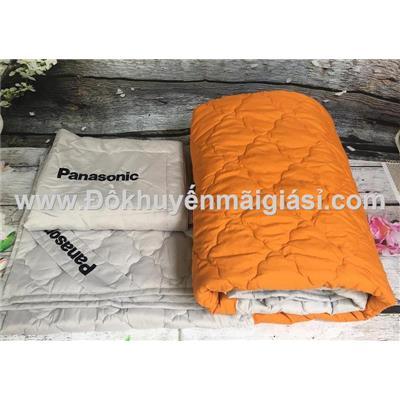 Bộ mền + 2 áo gối lụa chần bông cao cấp Everon, Panasonic tặng - Kt: Mền - (2 x 2)m, áo gối - (65 x 45)cm