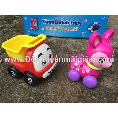 Bộ 2 xe đồ chơi ngộ nghĩnh Dutch Lady cho bé - Kích thước hộp đựng: (24 x 7 x 15) cm