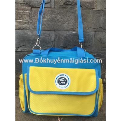 Vàng - xanh: Túi xách Dutc Lady nhiều ngăn cho mẹ đựng đồ bé - Kt: (29 x 12 x 22) cm
