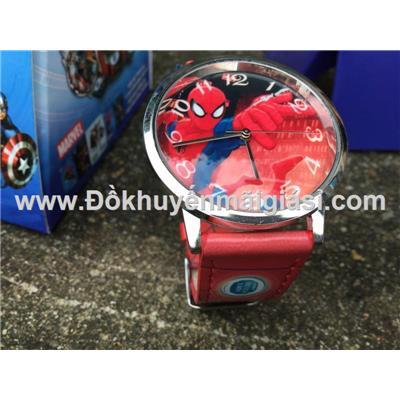 Spider Man (Người nhện): Đồng hồ đeo tay hoạt hình Disney cho bé của sữa Fristi tặng - Made in Hong Kong
