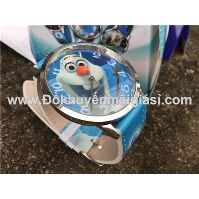 Olaf (Phim Nữ hoàng băng giá): Đồng hồ đeo tay hoạt hình Disney cho bé của sữa Fristi tặng - Made in Hong Kong