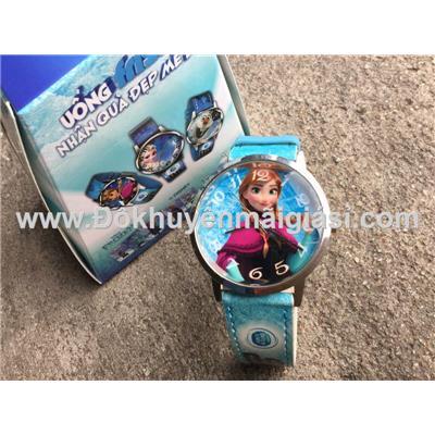 Anna (Phim Nữ hoàng băng giá): Đồng hồ đeo tay hoạt hình Disney cho bé của sữa Fristi tặng - Made in Hong Kong