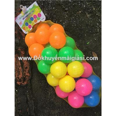 Túi 40 banh nhựa nhiều màu của sữa Nutifood tặng cho bé - Đường kính banh: 6cm
