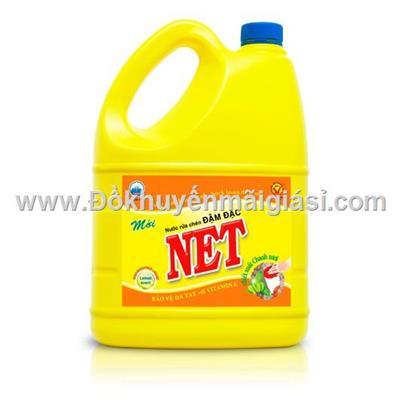 Nước rửa chén NET đậm đặc hương chanh can 1.5kg - Date: 2023