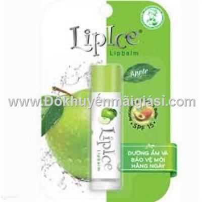 Son dưỡng không màu LipIce hương táo 4.3g - Date: 2021
