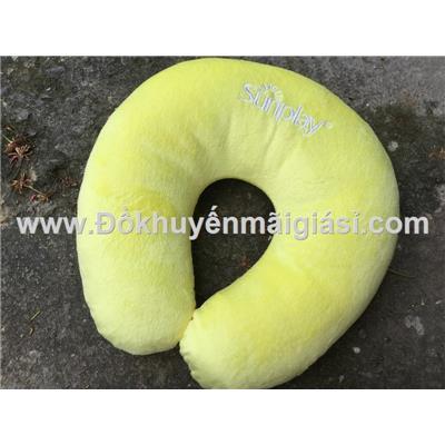 Gối kê cổ Sunplay màu vàng siêu mềm mịn - Kt: (30 x 28) cm