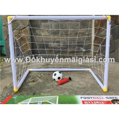 Bộ khung thành bóng đá mini cho bé: khung, lưới, bóng, đồ bơm - Kt: (85 x 49 x 77) cm