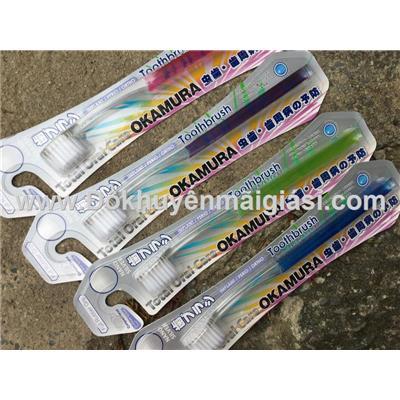 Bàn chải đánh răng cao cấp siêu mềm Nhật Bản Okamura Nano Silver dành cho người lớn