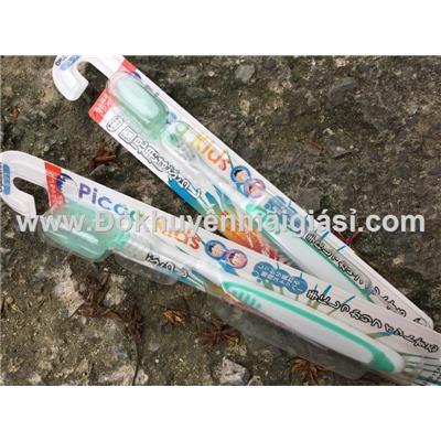 Bàn chải đánh răng Nhật Bản Okamura Picca Kids dành cho bé 2 - 6 tuổi, kèm nắp đậy