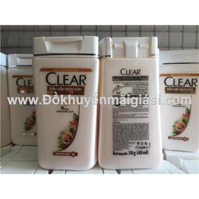 Chai dầu gội Clear thảo dược 50g: Date 03/2020