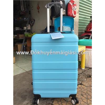 Xanh dương: Vali kéo du lịch có khóa số size lớn 24 in sữa Nuti tặng - Kt: (40 x 25 x 65) cm - Phí giao hàng tính riêng 10 ngàn