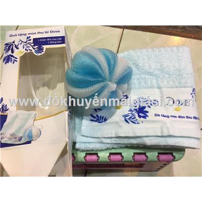 Bộ 1 khăn + 1 bông tắm Dove mùa thu