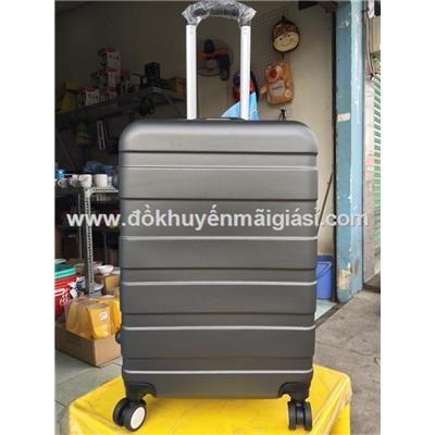 Màu đen: Vali kéo du lịch có khóa số size lớn 24 in sữa Nuti tặng - Kt: (40 x 25 x 65) cm - Phí giao hàng tính riêng 10 ngàn