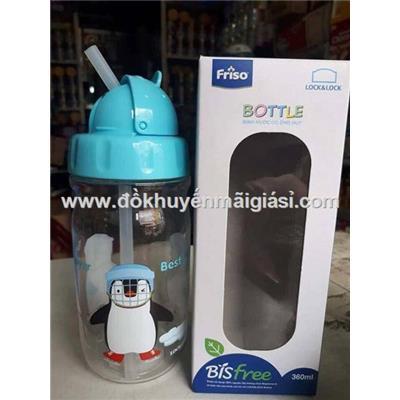 Bình nước trẻ em Lock&Lock ABF603 nhựa Tritan có ống hút 360ml