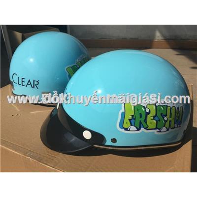 Nón bảo hiểm người lớn Clear Fresh nửa đầu không kính size M, màu xanh