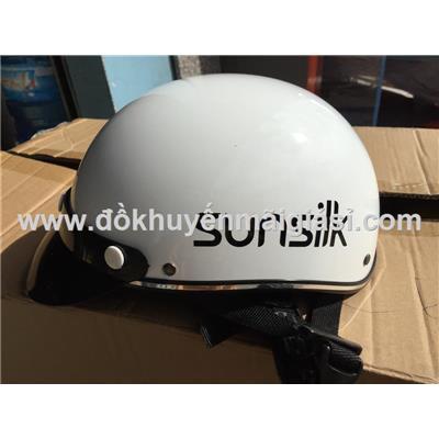 Nón bảo hiểm người lớn Sunsilk nửa đầu không kính size M, màu trắng