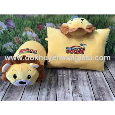 Gối đi xe máy hình sư tử tã Goon tặng