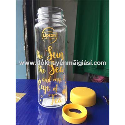 Bình đựng nước Lock & Lock Simple & Slim 500ml Lipton tặng