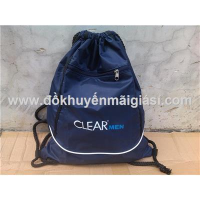 Balo dây rút vải dù Clear Men 2 lớp, 2 ngăn chống ướt tuyệt đối - Kt: (43 x 35) cm - Màu xanh đen