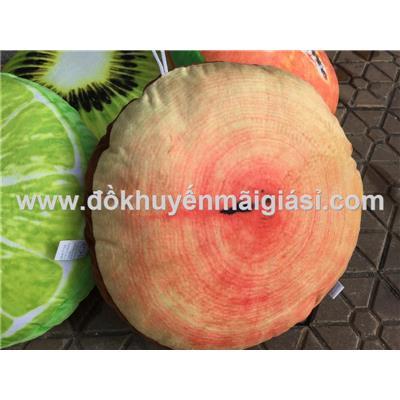 Gối trái cây 3D hình tròn Kotex tặng  Goi trai cay 3D hinh tron Kotex tang