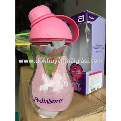 Bình nước Lock&Lock ABF676 nhựa tritan cho bé 380ml - Sữa PediaSure tặng - Màu hồng