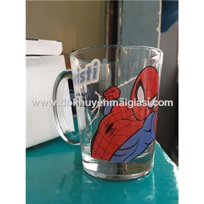 Ly thủy tinh quai hình Spider Man cho bé - Dung tích 300ml - Fristi tặng