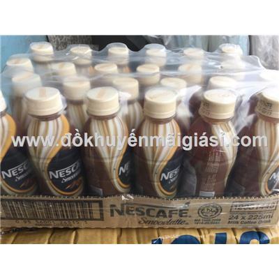 Lốc 24 chai thức uống sữa cafe Nescafe Smoovlatte dung tích 225ml - Xuất xứ Malaysia - Date: 03/2019