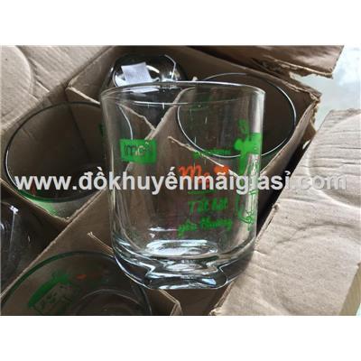 Hộp 6 ly thủy tinh chặt góc uống trà đá, Fami tặng - Dung tích ly: 250 ml