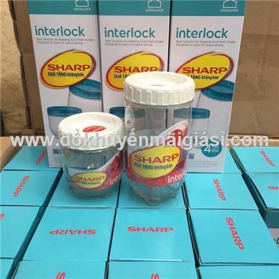 Bộ 2 hộp đựng gia vị thông minh Interlock của Lock & Lock 500ml & 280ml