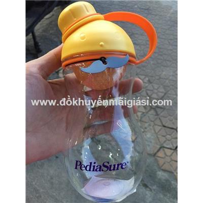 Bình nước Lock&Lock ABF676 nhựa tritan cho bé 380ml - Sữa PediaSure tặng - Màu vàng