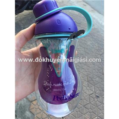 Bình nước Lock&Lock ABF676 nhựa tritan cho bé 380ml - Sữa PediaSure tặng - Màu tím