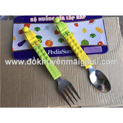 Bộ muỗng, nĩa lắp ráp PediaSure cho bé - Có 2 màu