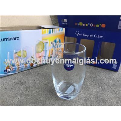 Bộ 6 ly thủy tinh Luminarc Salto 350ml màu trắng (Hộp 3 cái x 2 hộp)