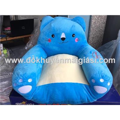 Ghế Sofa Huggies nhồi bông hình mèo cho bé - Kích thước: (48 x 50 x 40) cm. Phí giao hàng tính riêng 10 ngàn
