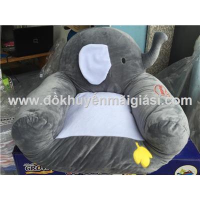 Ghế Sofa Huggies nhồi bông hình voi cho bé - Kích thước: (48 x 50 x 40) cm. Phí giao hàng tính riêng 10 ngàn
