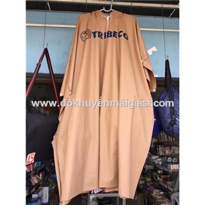 Áo mưa cánh dơi nhựa dẻo Tribeco - Màu nâu