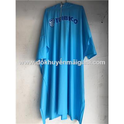 Áo mưa cánh dơi nhựa dẻo Tribeco - Màu xanh