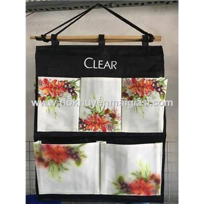 Túi treo tiện dụng 5 ngăn chống ướt Clear thảo dược - Kt: (45 x 37.5) cm  Tui treo tien dung 5 ngan chong uot Clear thao duoc - Kt: (45 x 37.5) cm
