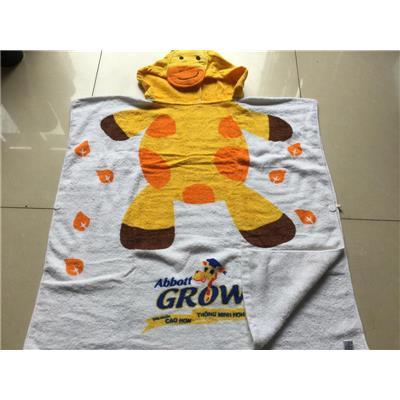 Khăn hoạt hình hươu cao cổ Abbott Grow siêu lớn cho bé - Kt: (140 x 70) cm