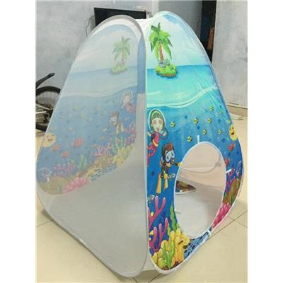 Lều khám phá đại dương tự bung cho bé, sữa Nan Nestle tặng - Kt: (98 x 78.5 x 78.5) cm  Leu kham pha dai duong tu bung cho be, sua Nan Nestle tang - Kt: (98 x 78.5 x 78.5) cm