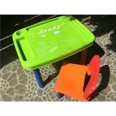 Bộ bàn ghế nhựa thông minh Enfa cho bé 3 - 7 tuổi