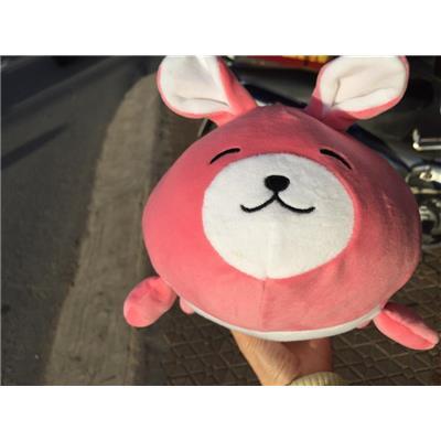 Bé thỏ nhồi bông Huggies màu hồng cực yêu - Kt: (35 x 27 x 15) c