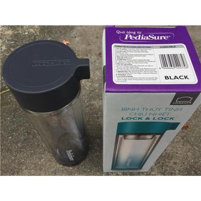 Bình thủy tinh màu chịu nhiệt Lock & Lock 350ml nắp vặn LLG653 - Sữa Pedia Abbott tặng