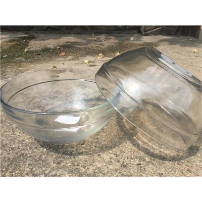 Bộ 2 tô thủy tinh trơn 7 in có ngấn - Kt: (17 x 7.5) cm