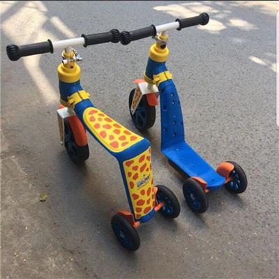 Xe scooter Abbott Grow kiêm xe chòi chân 2 trong 1 cho bé 2 - 6 tuổi