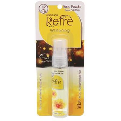 Xịt khử mùi dưỡng trắng hương phấn thơm Refre Whitening Baby Powder 30ml - Date: 01/2020