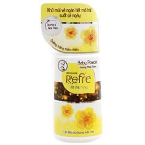 Lăn khử mùi dưỡng trắng Refre Whitening hương phấn thơm chai 40ml - Date: 05/2020