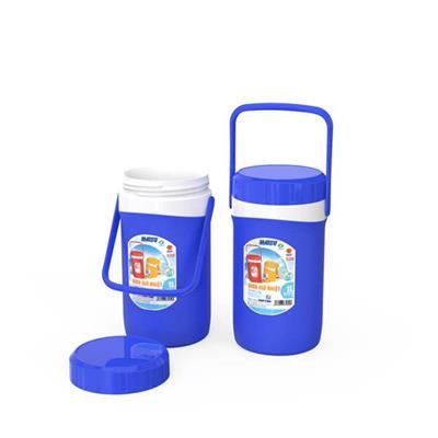 Bình giữ nhiệt nhựa Duy Tân 1 lít có quai xách - Kích thước: (11.8 x 11.8 x 20.8) cm
