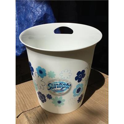 Sọt đựng rác nhựa Sunlight 3.6 lít có móc treo - Kt: (23 x 23 x 25.5) - Màu trắng có hoa